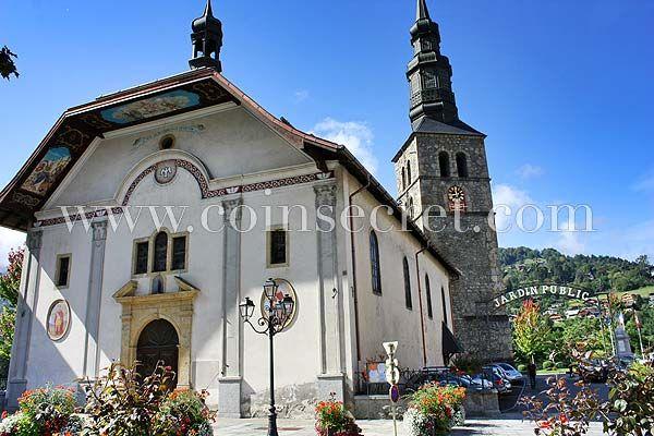 L'elégante petite ville deSaint-Gervais-les-Bains, Pays du Mont-Blanc, en Haute Savoie, France.