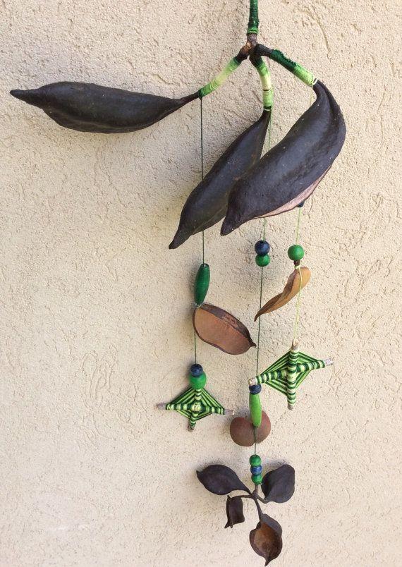 Handgemaakte rustieke natuurlijke mobile voor muur opknoping, venster of het plafond. Het kan een mooi rustiek huisdecor, kunt u de mobiele indoor