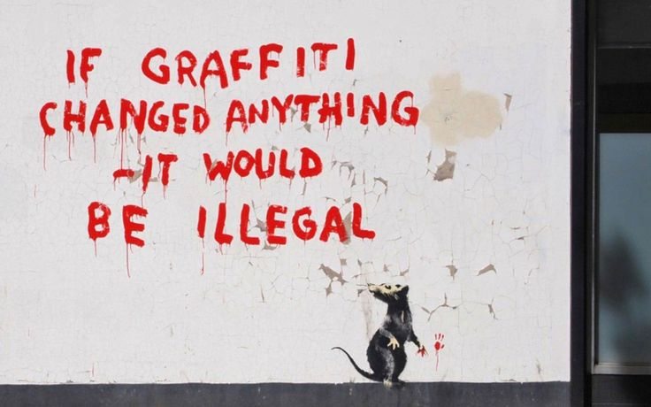Graffiti Banksy Art Posters Street Artwork Mouse Pop Decorative Picture Canvas Print Painting Wall Picture for Living Room