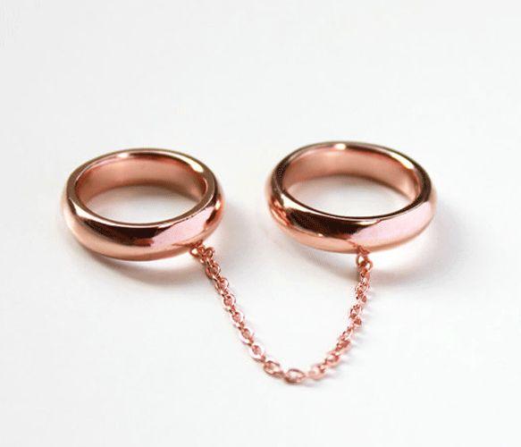 rose gold finger bondage