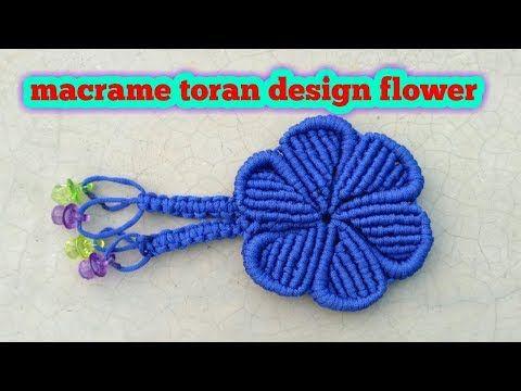 Macrame toran design flower/macrame patterns/macrame/macrame knot/macrame project/Educational po - YouTube