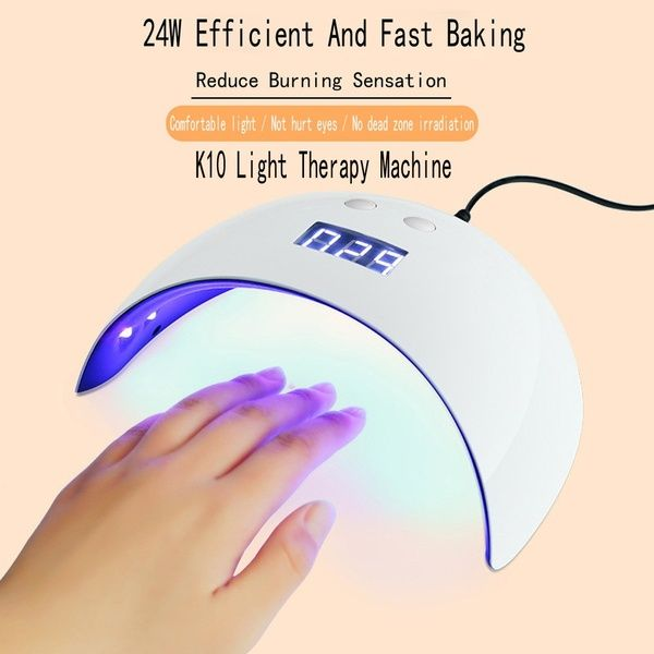 Usb 24w Led Drying Curing Machine Tool Uv Nail Dryers Light Lamp Polish Gel Wish Therapy Machine Uv Nails Gel Nail Uv Light