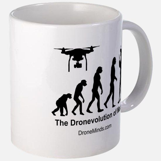 The Dronevolution of Man Mugs for