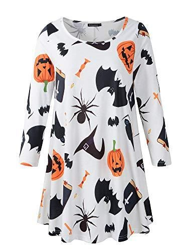 4c6aa26ae Veranee Women's Plus Size Swing Tunic Top 3/4 Sleeve Floral Flare T-Shirt |  Halloween Tees | Pinterest | Tunic tops, Shirts and Sleeves