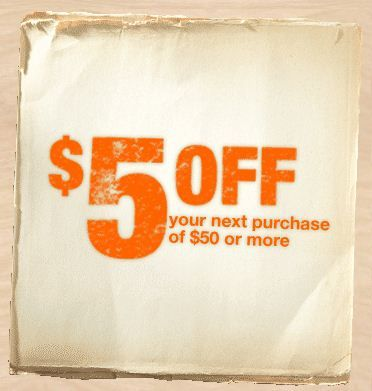 $5 Off $50 Next In-Store Purchase With Home Depot Email Signup
