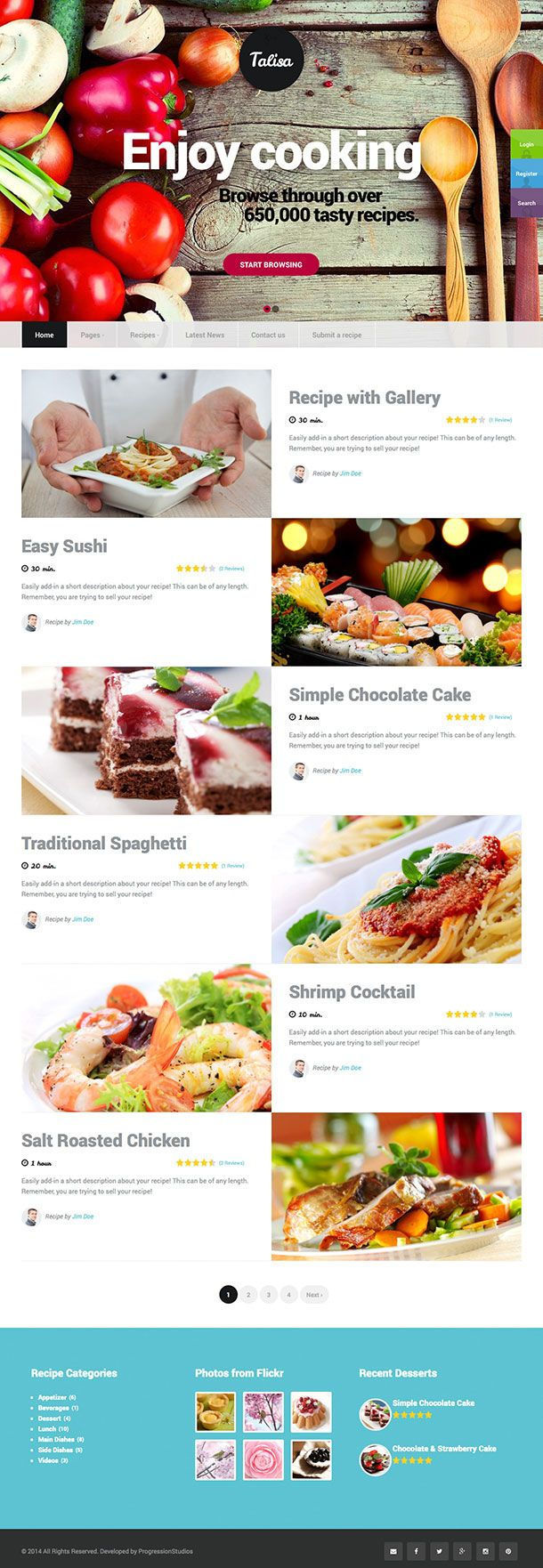 10 best food blog templates images on pinterest wordpress buy talisa food recipes wordpress theme by progressionstudios on themeforest show off your work with this easy to customize and fully featured wordpress forumfinder Choice Image