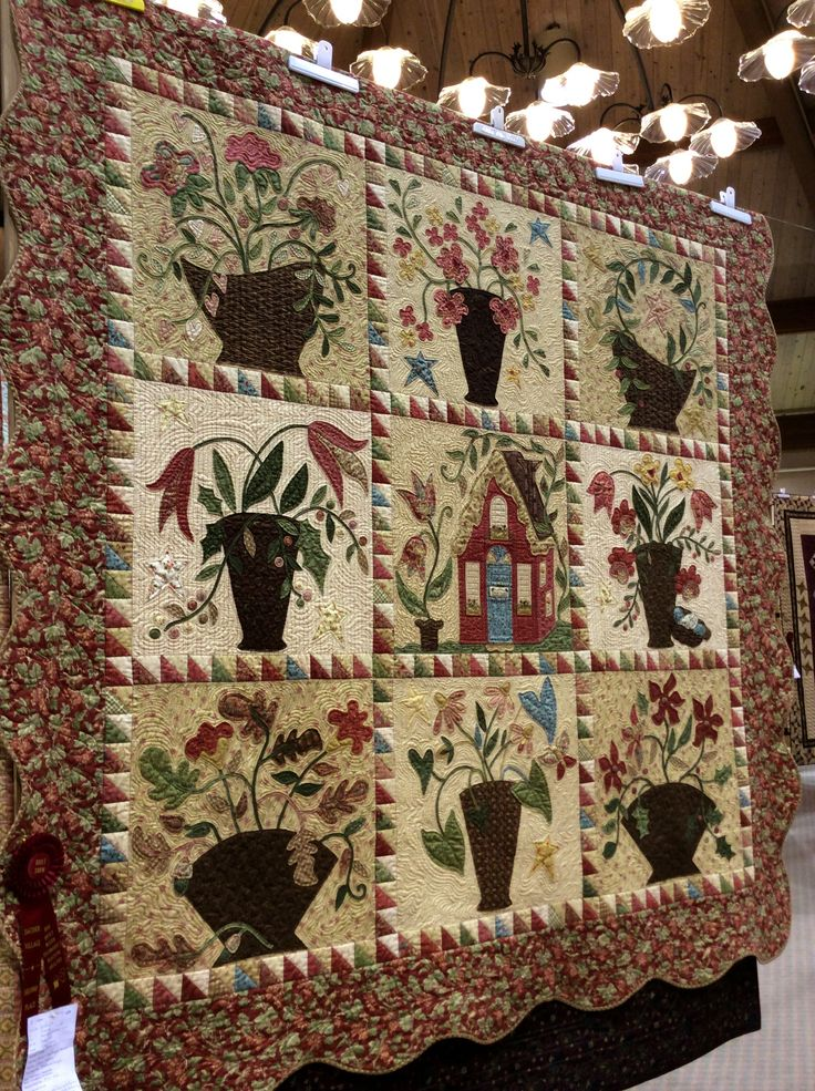 my cottage garden quilt at sauder village quilt show in