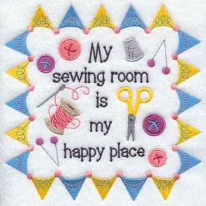 My sewing room is my happy place.
