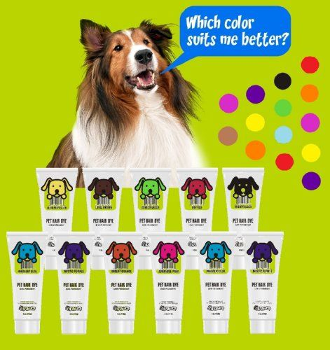 DOG HAIR DYE GEL (BLACK) - New Bright, Fun Shade, Semi-permanent, completely non-toxic and safe - http://www.thepuppy.org/dog-hair-dye-gel-black-new-bright-fun-shade-semi-permanent-completely-non-toxic-and-safe/