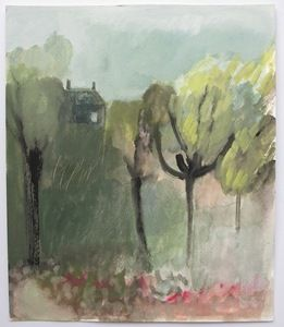 Image of house series (VIII) orchard garden - an original painting