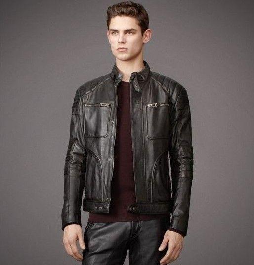 belstaff black leather jacket