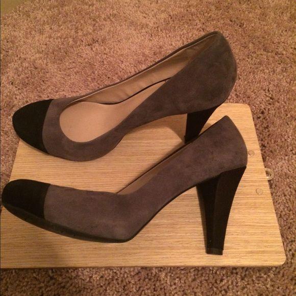 Women Size 11 Black and Grey Pump Gently Used Franco Sarto Trendy Platform Pump Franco Sarto Shoes Platforms