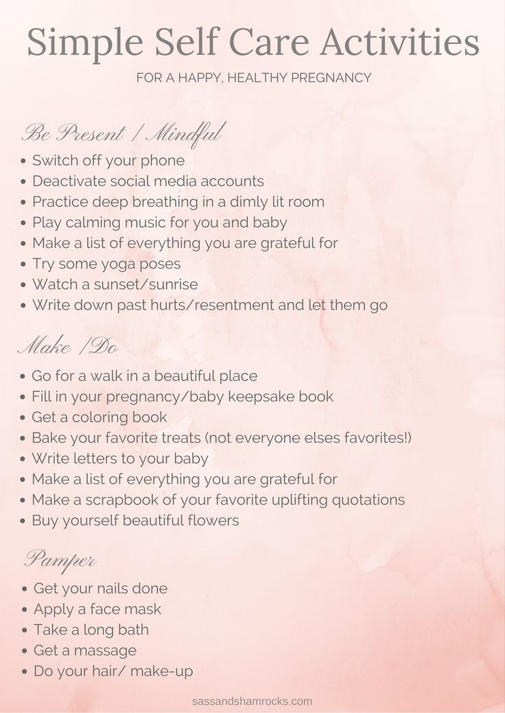 Self Care Activities For A Happy Healthy Pregnancy