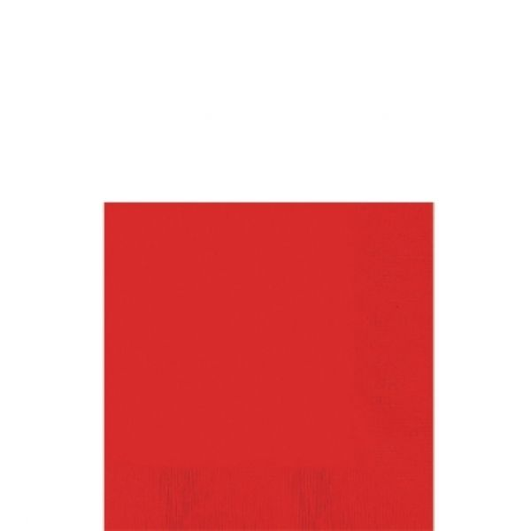 Servetten Rood 20 per pak 33 cm gevouwen  - Rode servetjes 20st. 33cm gevouwen