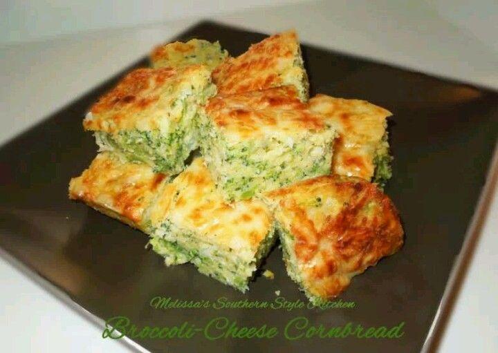 Broccoli & Cheese Cornbread | Casseroles, Veggies and misc. | Pintere ...