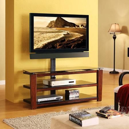 """Whalen Swivel 3-in-1 TV Stand for TVs up to 60"""""""