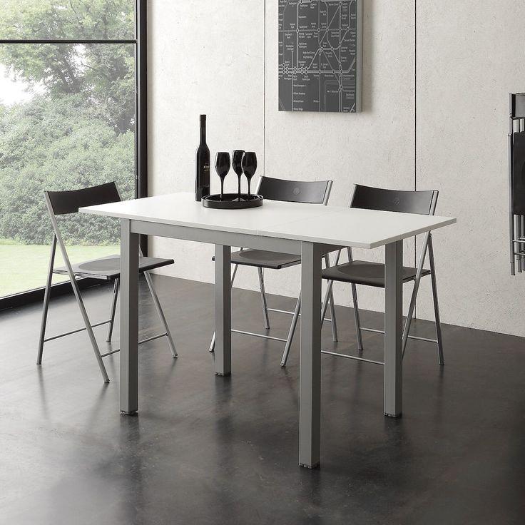 Tavolo allungabile moderno in metallo e nobilitato Ingmar
