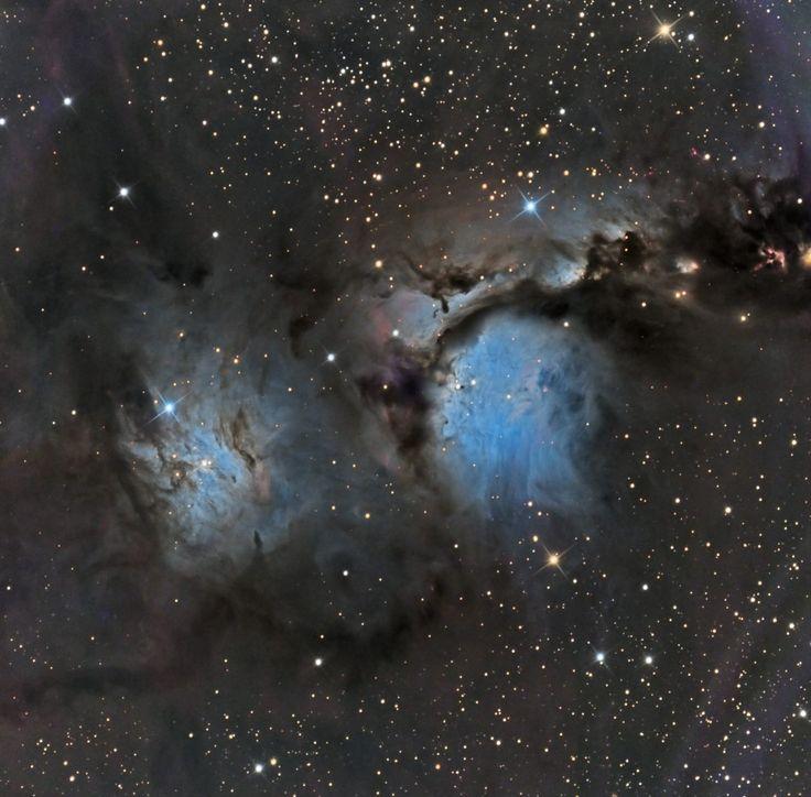 En la constelación de Orión, a unos 1.600 años-luz de distancia, nos encontramos con esta llamativa nebulosa, Messier 78. que muestra un color muy similar al del cielo de nuestro planeta. #astronomia #ciencia