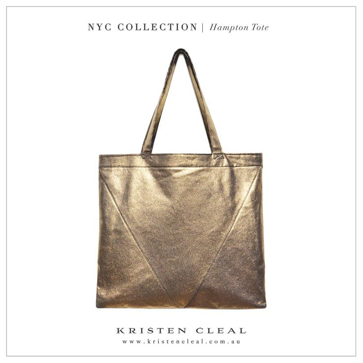 Gold Denim Hampton Tote by Kristen Cleal Designs  Shop our online store at www.kristencleal.com.au