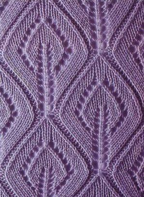 Ажурные листики спицами, фото