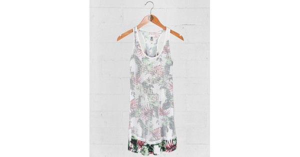 Φόρεμα αμάνικο Franklin & Marshall. Σύνθεση 100% cotton (top) - 95% polyester 5% elastan e-funky.gr