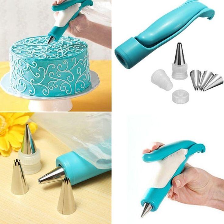 MEOF Nozzles Set Tool Dessert Decorators Cake Decorating Icing Piping Cream Syringe Tips Muffin Cake Pastry Pen Bag