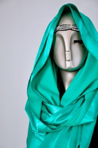 Satin Glitter Loop-Sea Green - Loops - Online Collection | Online Hijab Store in Singapore| Shawl | Hoodies | Hijabfashion|