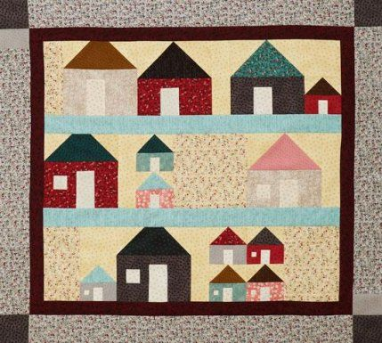 11 Best Images About House Block Quilts On Pinterest