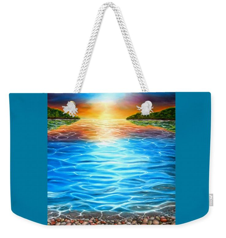 Weekender Tote Bag,  blue,colorful,cool,beautiful,fancy,unique,trendy,artistic,awesome,fahionable,unusual,accessories,for,sale,design,items,products,gifts,presents,ideas,sea,coastal,scene