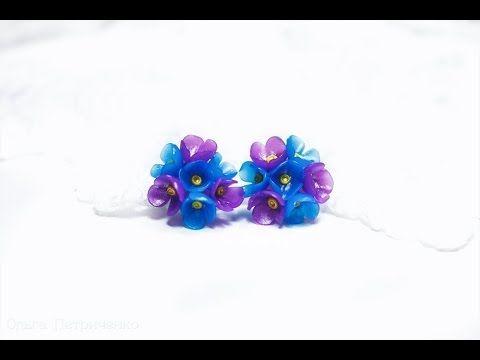 ♥♥♥ Цветочные серьги из полимерной глины FIMO ♥♥♥