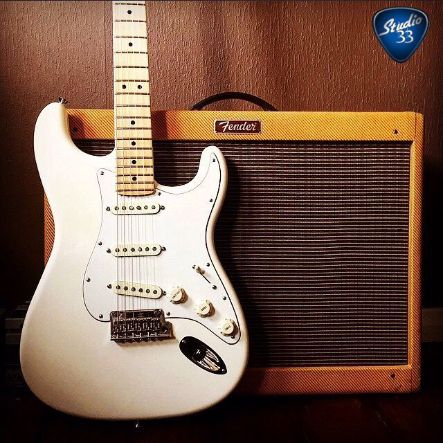 Fender American Standard Stratocaster and Hot Rod Deluxe amp from @george_phillips96 #stratocaster #guitar Learn to play guitar online at www.Studio33GuitarLessons.com