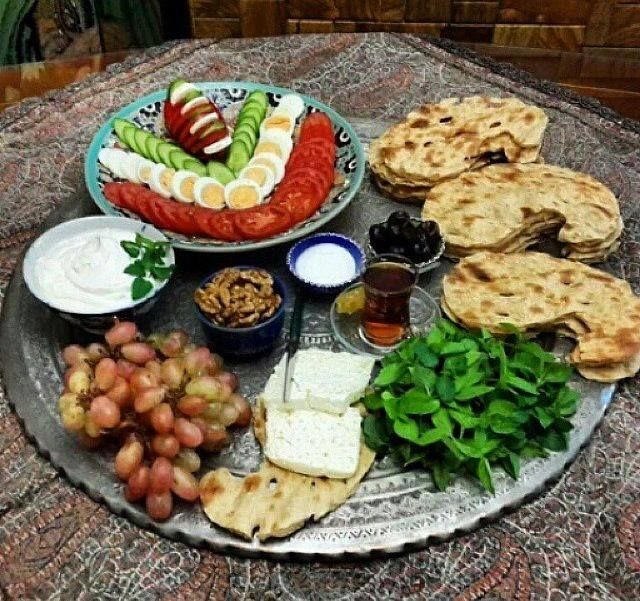 Persian style afternoon tea time