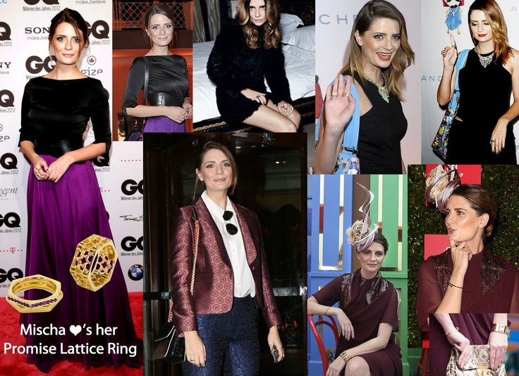 Mischa Barton ❤'s her Promise Lattice Ring & has been wearing it all over the world! From GQ's Men of the Year Awards in Berlin to the Melbourne Cup in Australia, Mischa  is looking fabulous in our jewels!