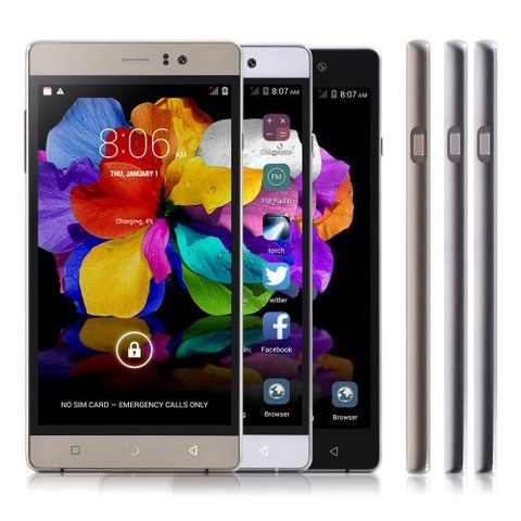 """5"""" 5inch Android 5.1 MTK6582 Quad Core 3G Mobile Phone 512MB RAM 4GB ROM WCDMA A-GPS HD IPS 5.0MP 3200mAh Cell Phones SHX P8"""