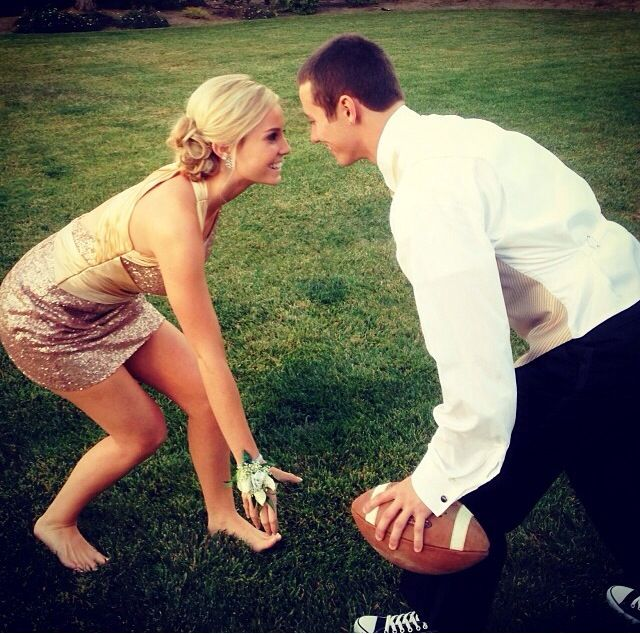 High school formal dance with my football player <3