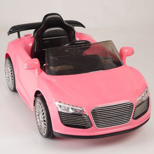 kids ride on car electric power remote control wheels pink upgraded with a battery big motor