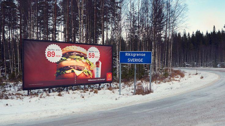 McDonald's – Border Billboard By DDB, Sweden