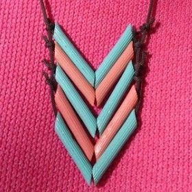#memobaby Un collier de nouilles revisité et finalement très tendance. Comme quoi !  #FêteDesMères