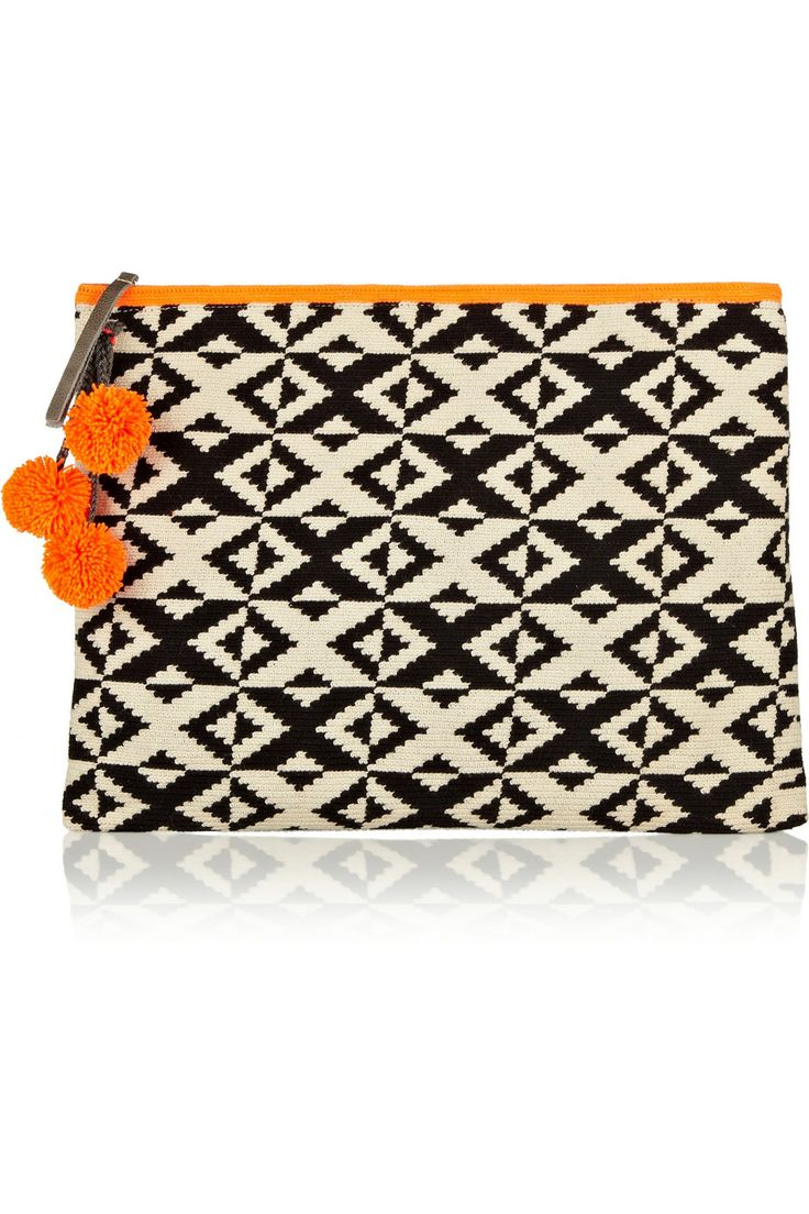 Marilu crocheted cotton clutch