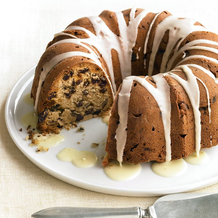 This cake is lighter in texture and more delicate than traditional fruitcake, yet keeps all its appeal with nutmeg, pecans, raisins, and a touch of brandy.
