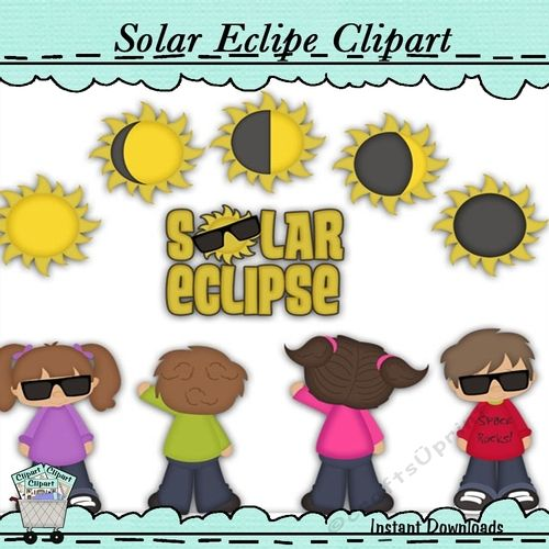 Solar Clipse Clip Art Aug 21st 2017 by Debra Miller Solar Clipse Clip Art Aug 21st 2017 A solar eclipse is a type of eclipse that occurs when the Moon passes between the Sun and Earth and when the Moon fully or partially blocks the Sun.Commercial or personal use clip art collection perfect for card making scrapbooking craft projects diy birthday invitations and party favors its unlimited what you