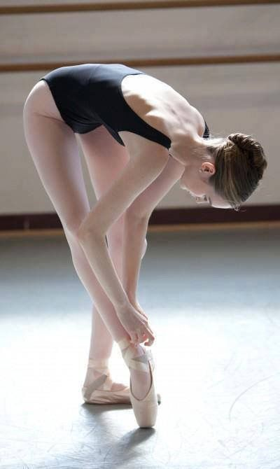 Even when not dancing ballerinas are beautiful
