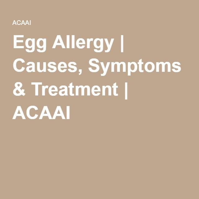 Egg Allergy | Causes, Symptoms & Treatment | ACAAI