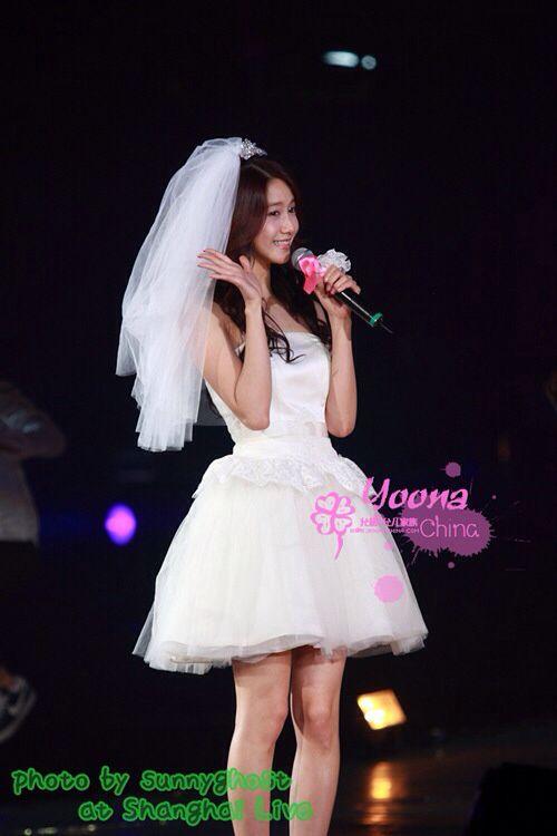 Yoona wedding dress