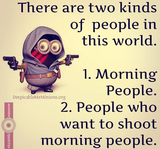 Funny Morning Quotes - There are two kinds of people
