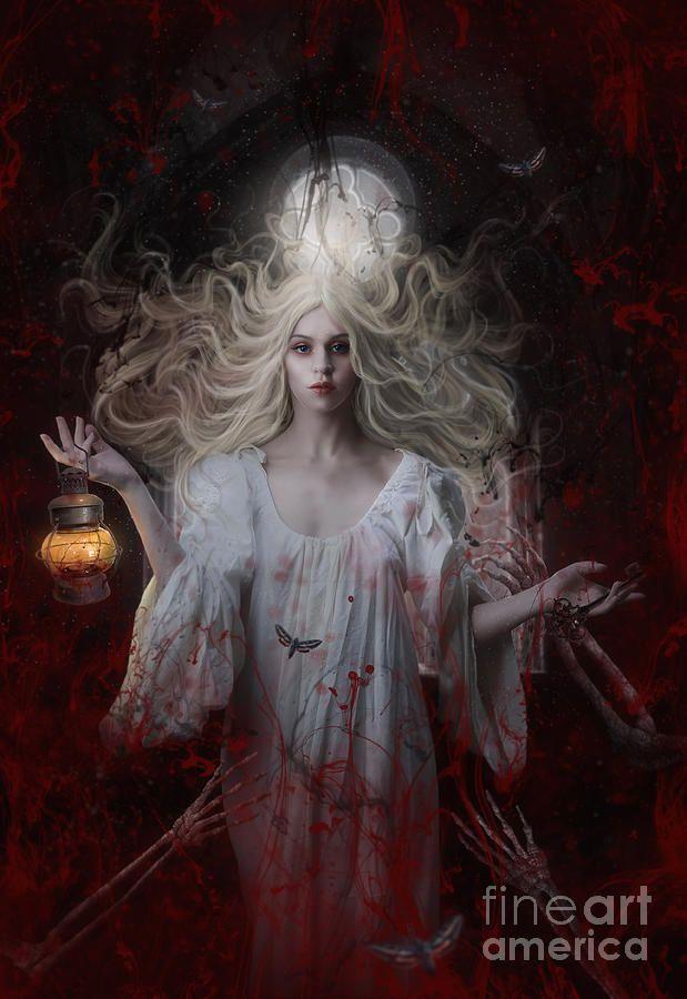 Crimson by Jessica Allain Beautiful dark art Dark gothic art Horror prints