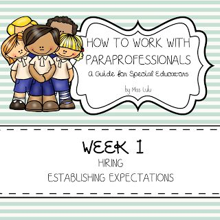 How to Work with Paraprofessionals Part 1: Hiring & Establishing Expectations