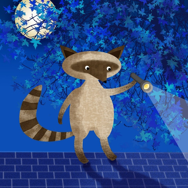 Racoon on roof / Picture Diary
