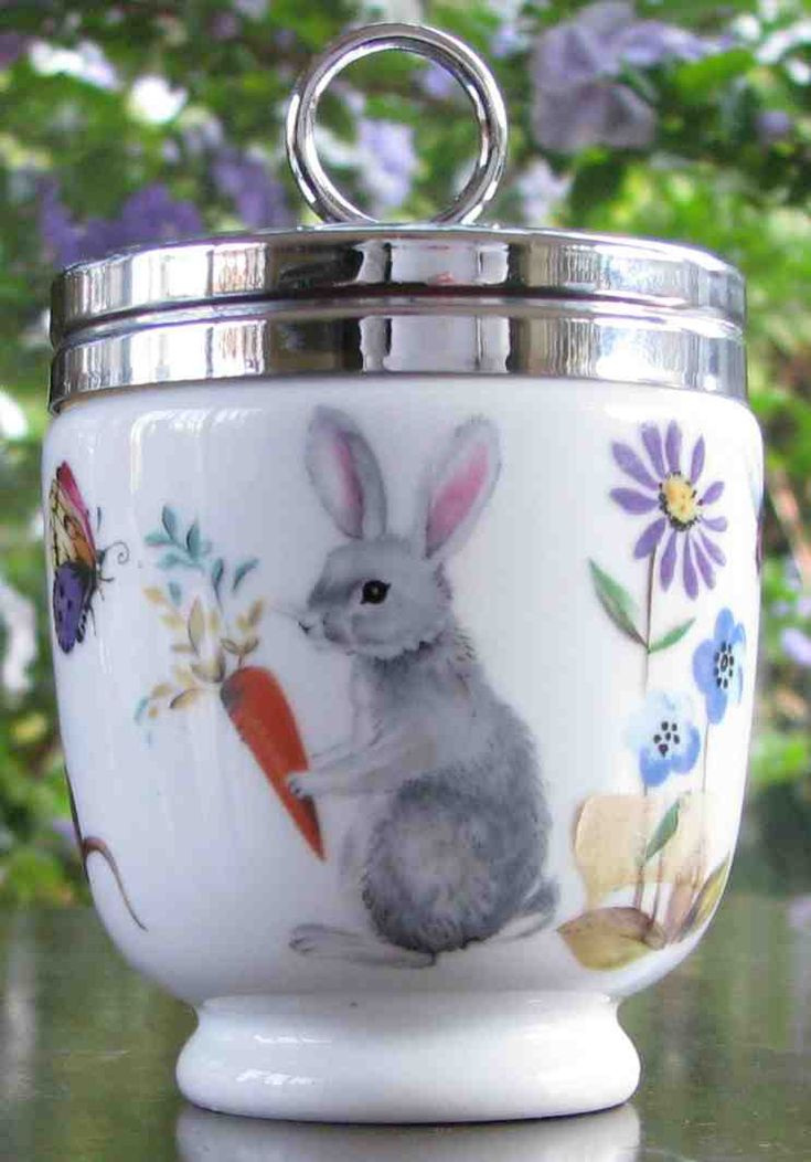 "Royal Worcester egg cup in ""A Skippety Tale."""
