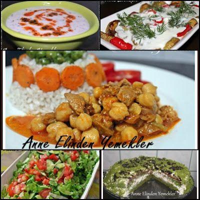 Toyga Çorbası Kuşbaşılı Nohut Yemeği Şehriyeli Pirinç Yemeği Kabak Kızartması Yeşil Salata Ispanaklı Pasta
